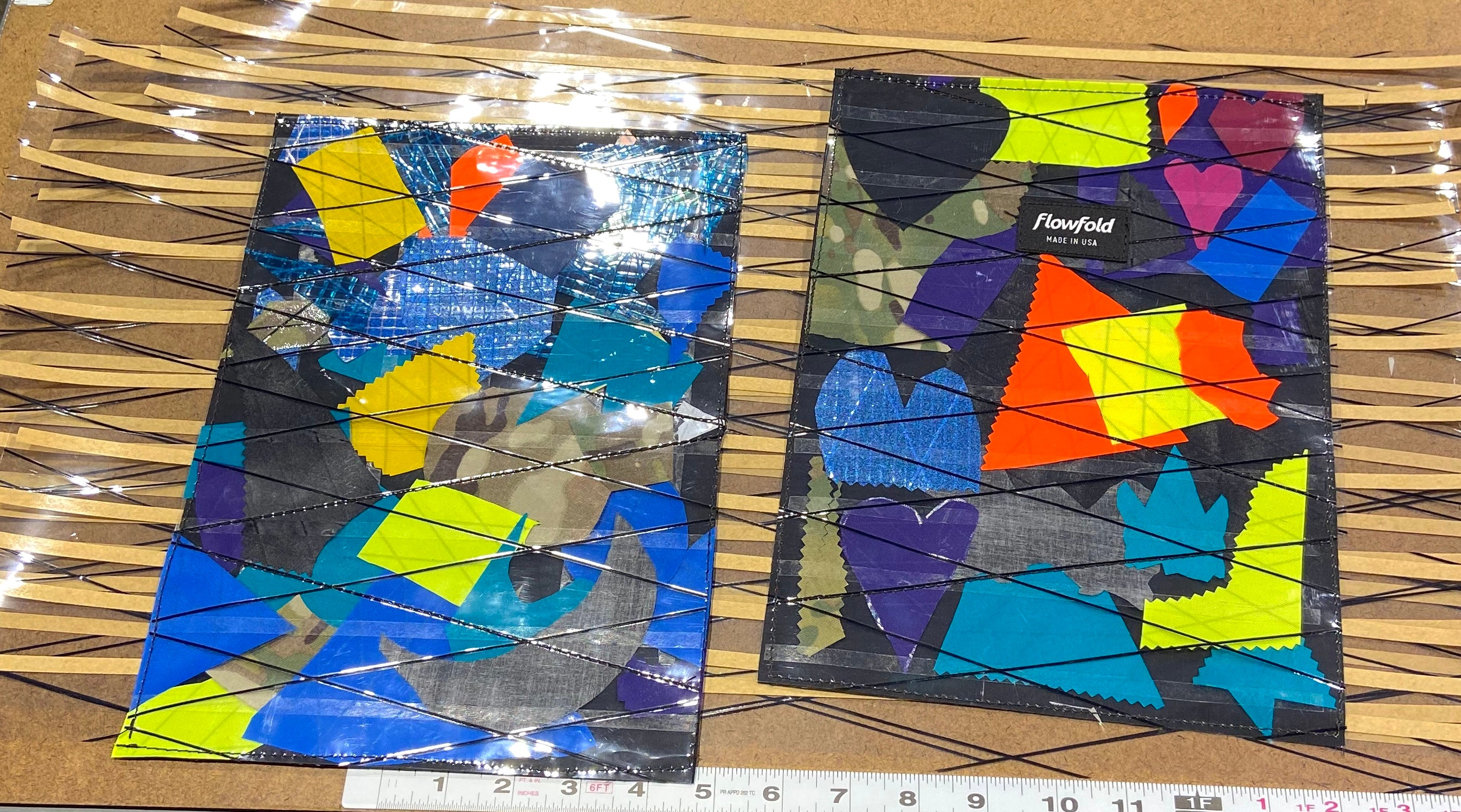 flowfold recycled fabric scraps