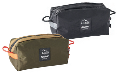 Flowfold x LLBean Utility Pouch Dopp Kit Travel Organizer Bag Packing Cube Made in USA