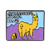 Flowfold Adventure? Alpaca Bag Pin with alpaca and backpack