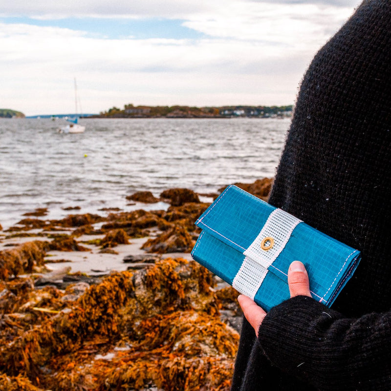 Flowfold x Alaina Marie Recycled Sailcloth Seacoast Trifold Wallets