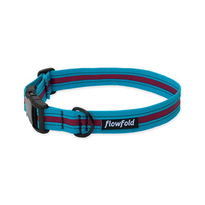 Flowfold Aqua/Fucshia Trailmate Dog Collar