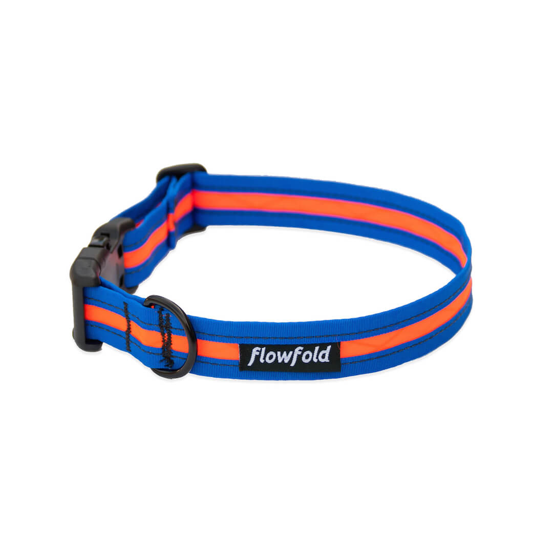 Flowfold Orange/Blue Trailmate Dog Collar