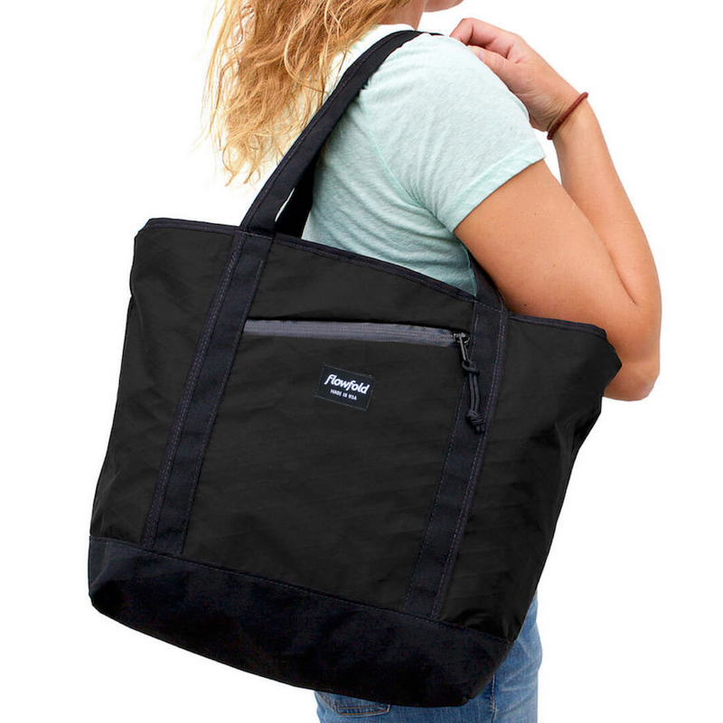 Flowfold Heather Grey Zip Porter 16L Zipper Tote made from Durable Water Repellent Fabrics