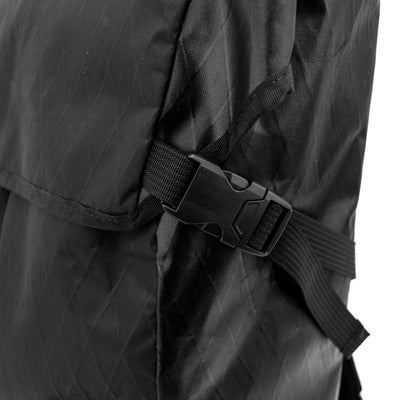 Flowfold Center Zip Backpack Jet Black Clip Detail