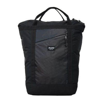 Flowfold Jet Black Denizen 14L Tote Backpack