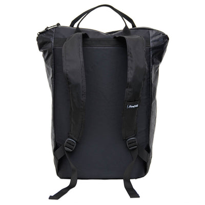 Flowfold Jet Black Denizen 18L Tote Backpack back view