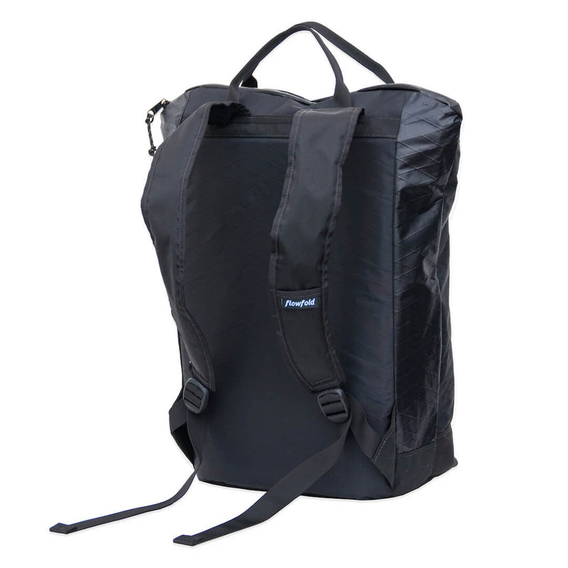 "Flowfold Jet Black Denizen 18L Tote Backpack with 15"" Laptop Sleeve"