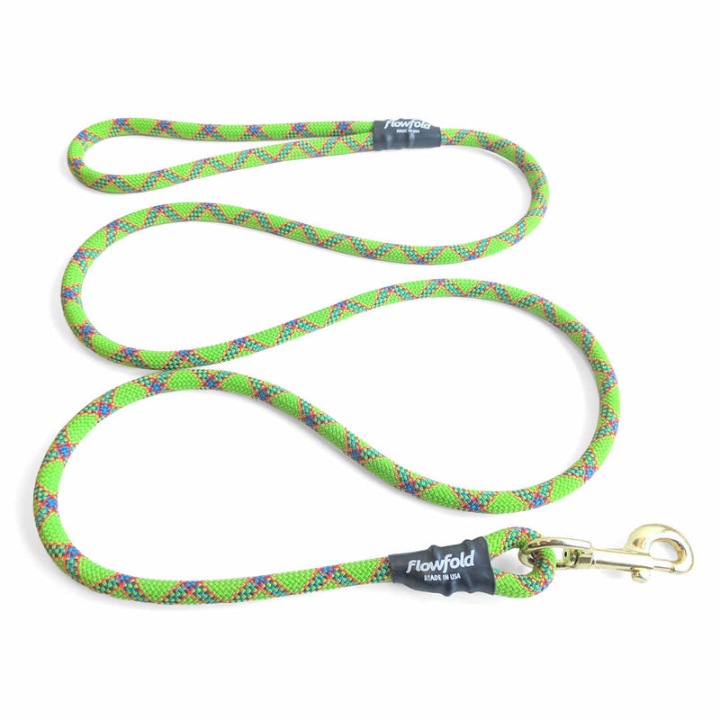 Flowfold Orange Trailmate Recycled Climbing Rope Dog Leash 6 Feet Made in USA