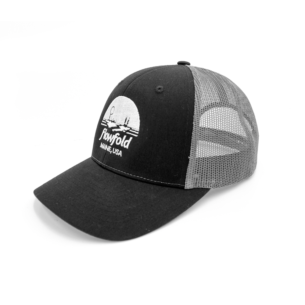 Flowfold Island Icon Black/Grey Low Profile Trucker hat