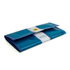 Flowfold x Alaina Marie Cyan/White Seacoast Trifold Wallet side view