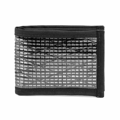 Flowfold Black Ultralight Recycled Sailcloth Bifold Wallet Made in Maine
