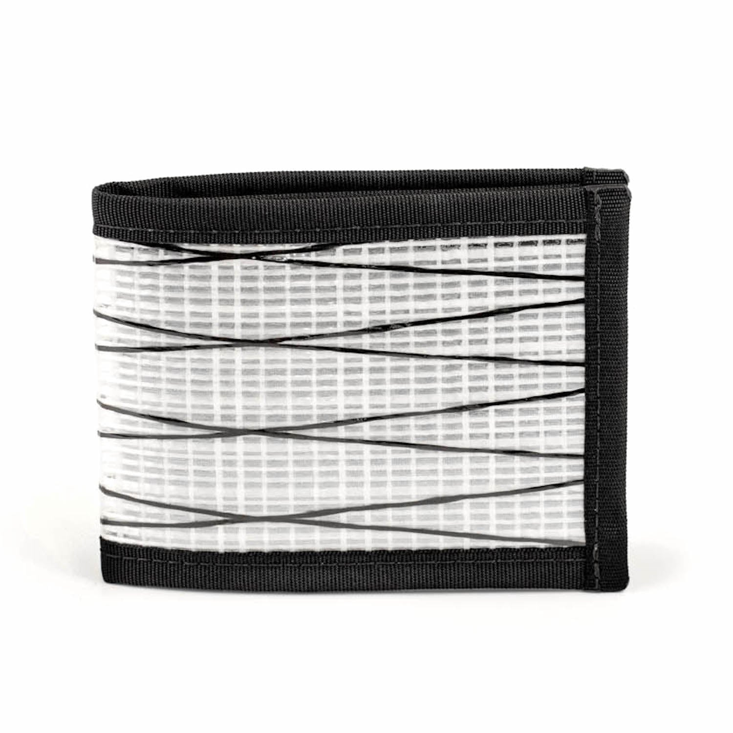Flowfold White Ultralight Recycled Sailcloth Bifold Wallet Made in Maine
