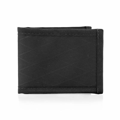 Flowfold RFID Blocking Vanguard Black Bifold Wallet Minimalist Wallet with Clear ID Holder