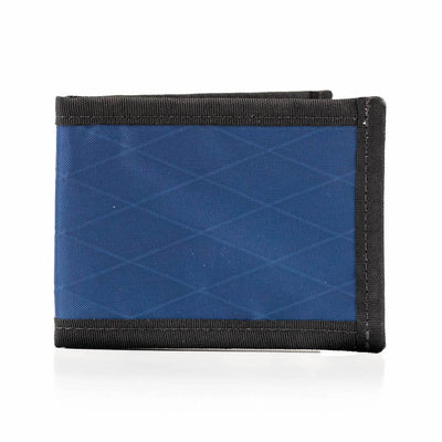 Flowfold Lightweight Ultrathin Vanguard Bifold Wallet Made in Maine Navy Blue