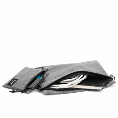 Flowfold Heather Grey Voyager Travel Pouches - Organizational Travel Pouches Made in USA