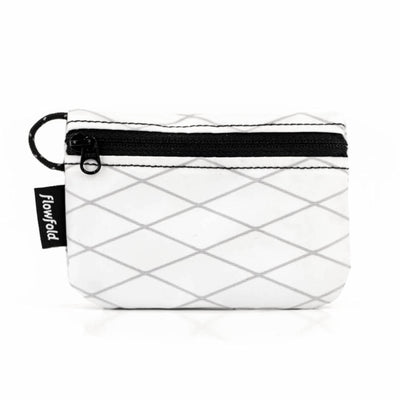 Flowfold White Essentialist Coin Pouch Wallet For Cash, Cards, and Coins Made in Maine