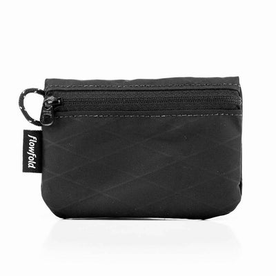 Flowfold Jet Black Essentialist Coin Pouch Wallet For Cash, Cards, and Coins Made in Maine