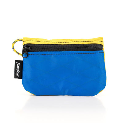 Flowfold Blue/Yellow RFID Blocking Coin Pouch