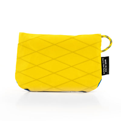Flowfold Blue/Yellow Essentialist Coin Pouch Back