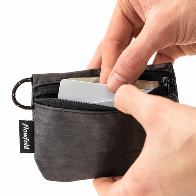 Flowfold Graphite Grey Essentialist Coin Pouch Wallet For Cash, Cards, and Coins Made in Maine