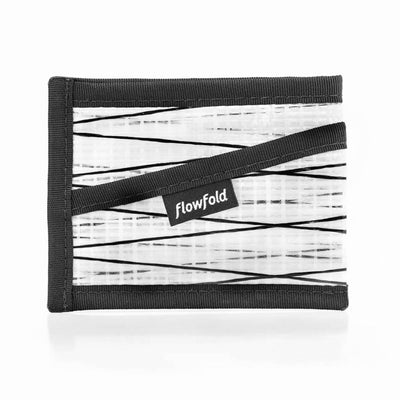 Flowfold Recycled Sailcloth Craftsman Three Pocket Wallet slim minimalist wallet white