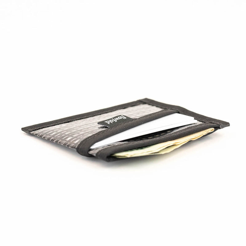 Flowfold Recycled Sailcloth Craftsman Three Pocket Wallet slim minimalist wallet black