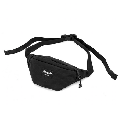 Flowfold Jet Black Rebel X-Pac Small Fanny Pack