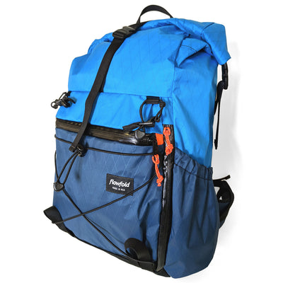 Flowfold Navy Blue with Orange Zipper Pulls Uhuru 25L Hiking Pack Technical Backpack
