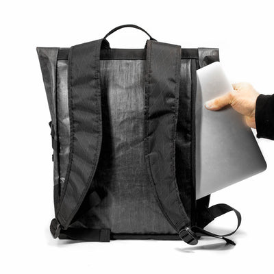 Flowfold Large Center Zip Backpack with protective laptop sleeve