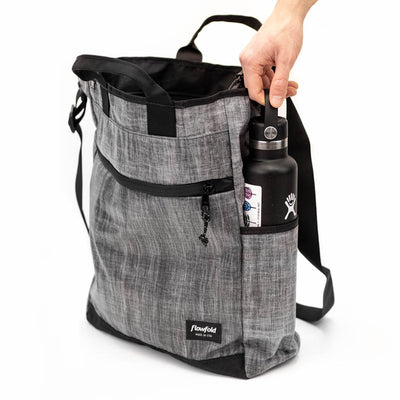 Flowfold Large Odyssey Crossbody Bag with Tote Handles  convenient easy access water bottle side pockets