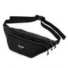 Flowfold Maverick Large Jet Black Fanny Pack with two zippered pockets