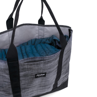 Flowfold Heather Grey Mammoth 28L Tote Bag with Side Access Pocket