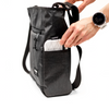 Flowfold Odyssey Medium Crossbody Bag Graphite side pocket with essentialist