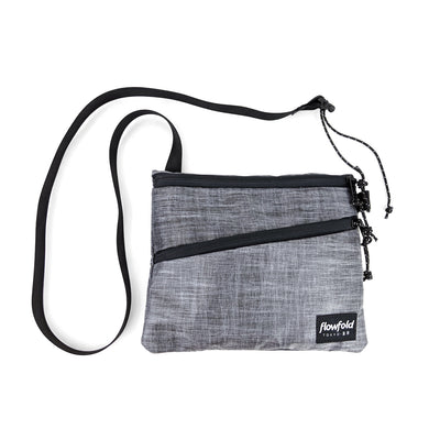 Flowfold Heather Grey Sacoche Japan Inspired Medium Crossbody Bag