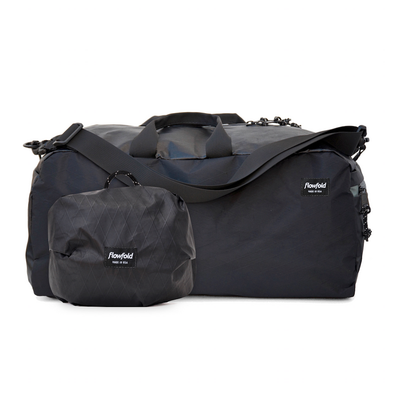 Flowfold Heather Grey Nomad 24L Packable Duffle Bag with Stuff Sack