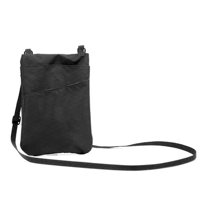 Flowfold Jet Black Mini Muse Crossbody Bag