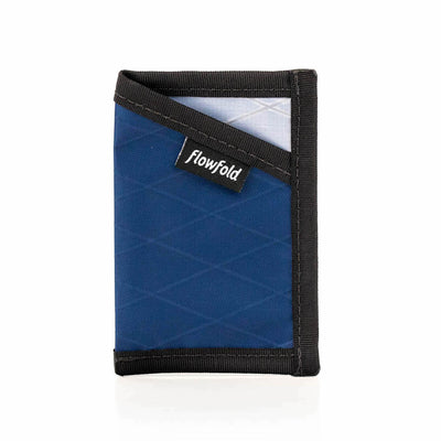 Flowfold Ultra Thin RFID Blocking Minimalist Card Holder Wallet Navy Blue