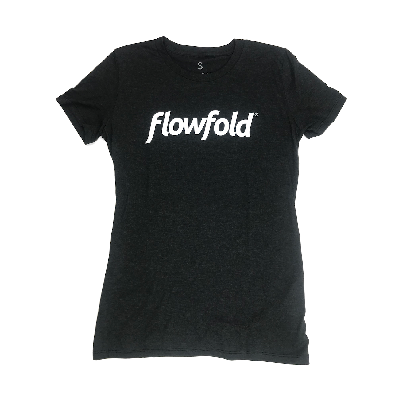 Women's Black Flowfold T-Shirt