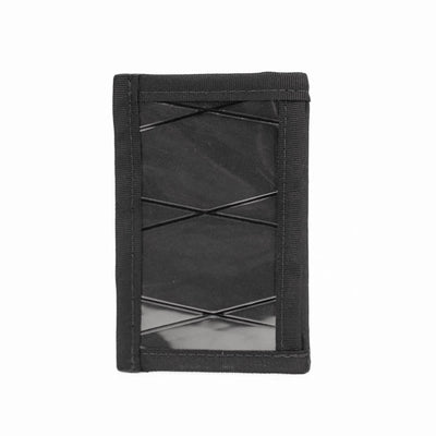 Flowfold Jet Black Minimalist ID Card Holder For Cards and Cash Made in USA