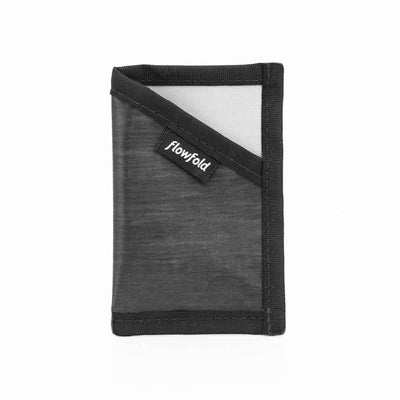 Flowfold Graphite Grey Minimalist ID Card Holder For Cards and Cash Made in USA