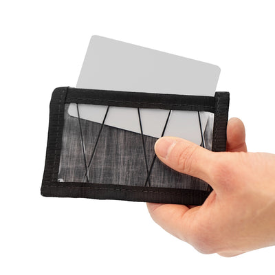 Flowfold Minimalist ID Card Holder For Cards and Cash Made in USA - Back sleeve for ID card
