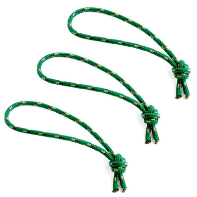 Flowfold Green Zipper Pulls set of 3