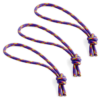 Flowfold Purple Zipper Pulls set of 3