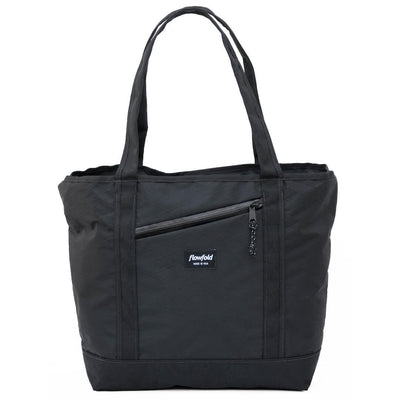 Flowfold Jet Black Zip Porter 16L Zipper Tote made from Durable Water Repellent Fabrics