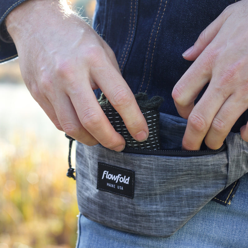 Flowfold Heather Grey Rebel X-Pac Fanny Pack Small