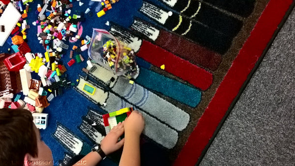Trampoline - Lego story in the library