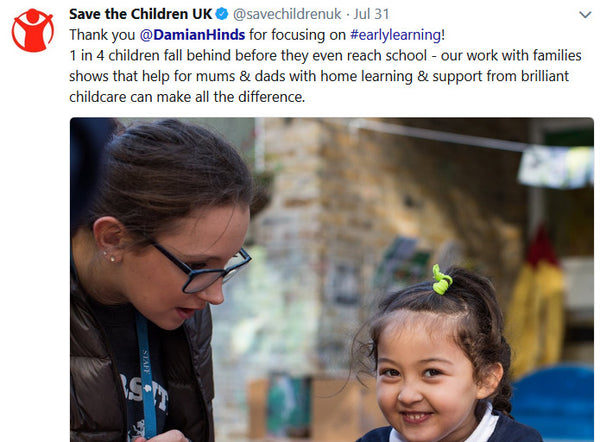 TTLCIC - Save The Children tweet July 2018