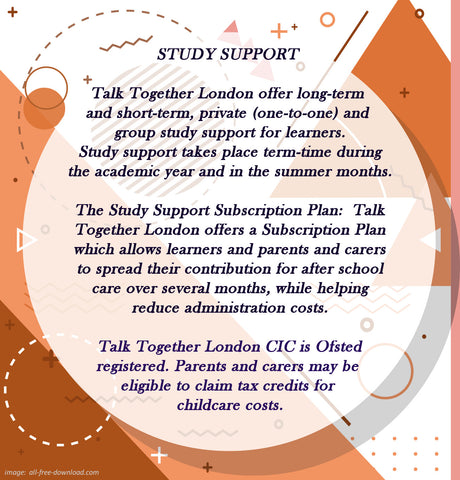 STUDY SUPPORT - TalkTogetherLondon