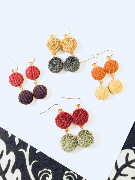 Seville Colorful Duo Dangle Earrings by Cardinal House.