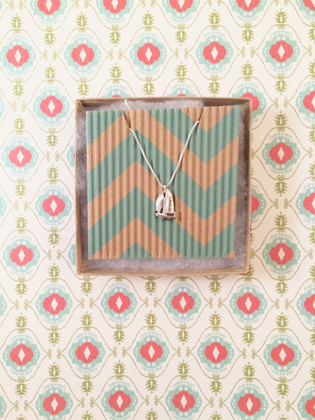 Sailboat Charm Necklace by Cardinal House in Pensacola